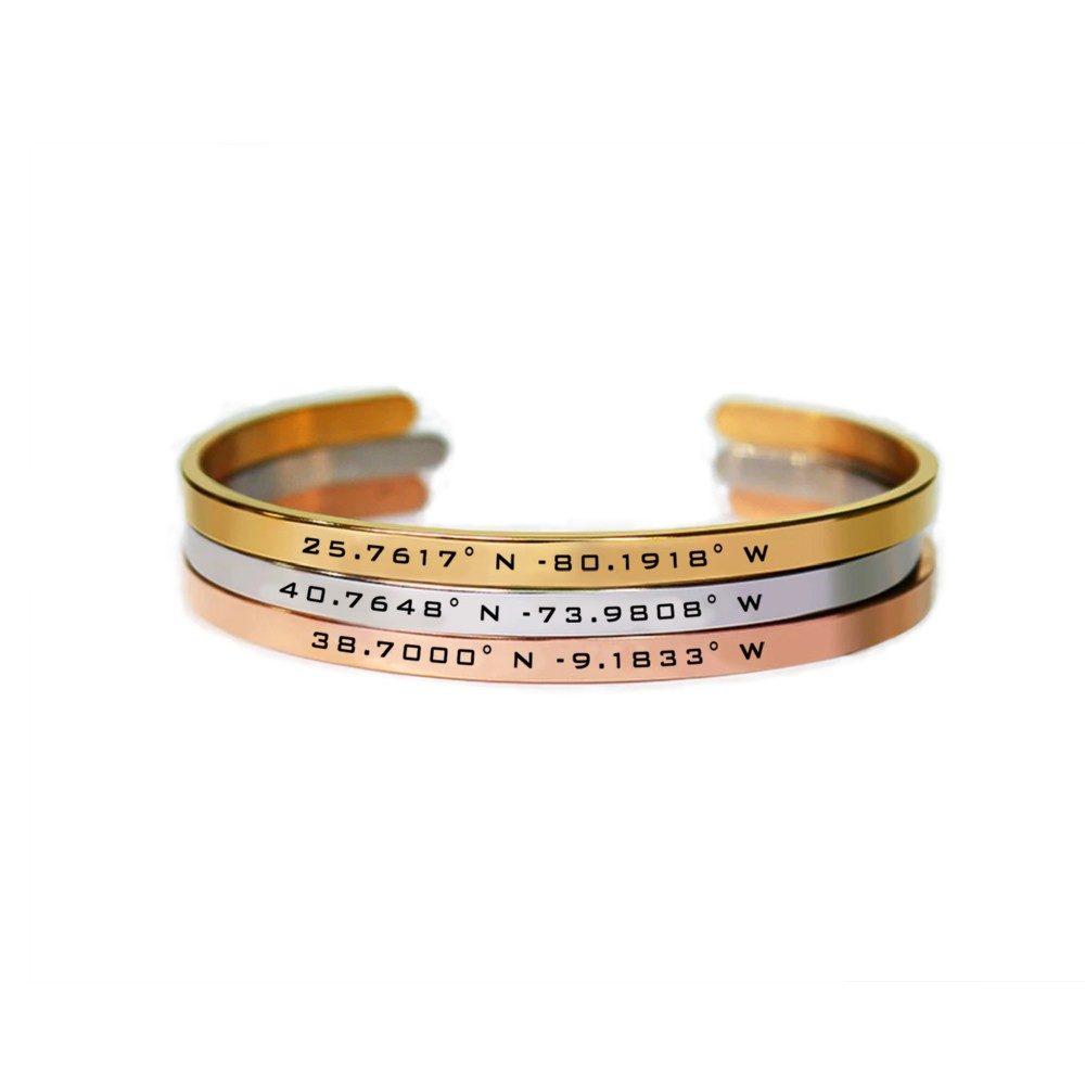 personalisierbares Armband (Koordinaten / Text)