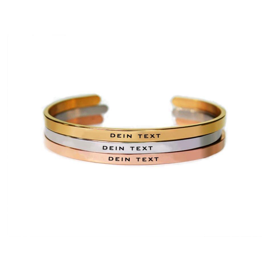 personalisierbares Armband mit Wunschtext