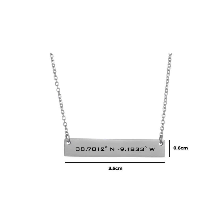 Halskette mit Koordinaten
