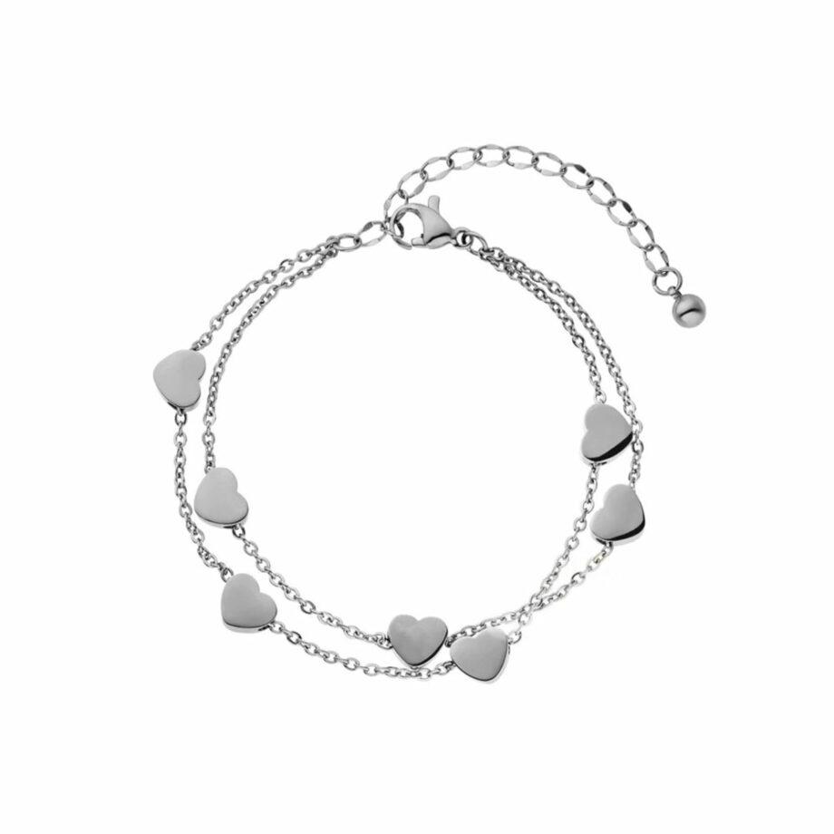 Herz Armkette Silber